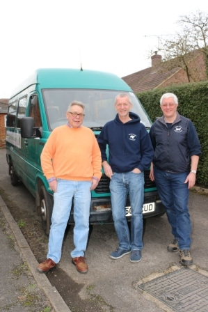 Tony, Colin and Peter - our minibus drivers
